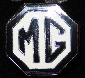 Badge Black and White enamel