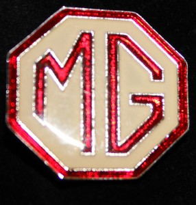 Badge Red and Cream enamel