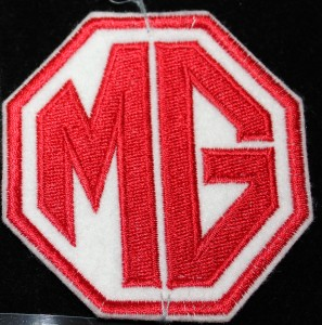 Cloth Patch White and Red