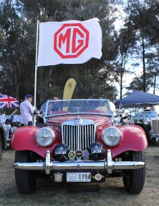 Laurie's TF flying the MG Banner 10